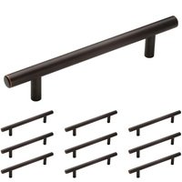 "Amerock - Bar Pulls - 10 Pack of 5"" Centers European Bar Pull in Oil Rubbed Bronze"