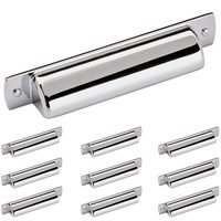 "Amerock - Rochdale - 10 Pack of 3 3/4"" Centers Cup Pull in Polished Chrome"