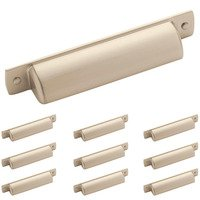 "Amerock - Rochdale - 10 Pack of 3 3/4"" Centers Cup Pull in Satin Nickel"