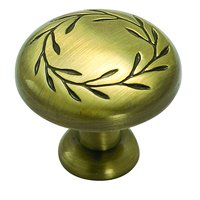 "Amerock - Nature's Splendor™ - Elegant Brass Knob 1 1/4"" ( 32mm )"