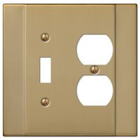Amerelle Wallplates - Italia - Single Toggle Single Duplex Combo Wallplate in Brushed Bronze