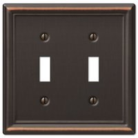 Amerelle Wallplates - Chelsea - Double Toggle Wallplate in Aged Bronze