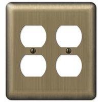 Amerelle Wallplates - Devon - Double Duplex Wallplate in Brushed Brass