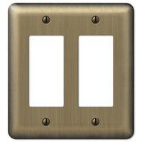 Amerelle Wallplates - Devon - Double Rocker Wallplate in Brushed Brass