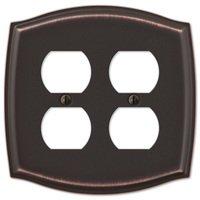 Amerelle Wallplates - Sonoma - Double Duplex Wallplate in Aged Bronze