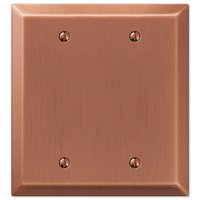 Amerelle Wallplates - Century - Double Blank Wallplate in Antique Copper