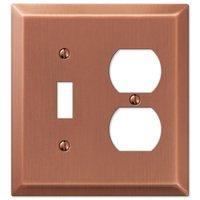 Amerelle Wallplates - Century - Single Toggle Single Duplex Combo Wallplate in Antique Copper