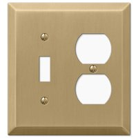 Amerelle Wallplates - Century - Single Toggle Single Duplex Combo Wallplate in Brushed Bronze