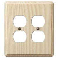 Amerelle Wallplates - Contemporary - Double Duplex Wallplate in Unfinished Ash Wood