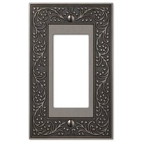 Amerelle Wallplates - English Garden - Single Rocker Wallplate in Antique Nickel