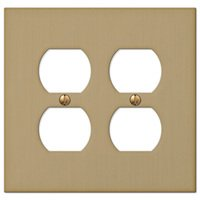 Amerelle Wallplates - Elan - Double Duplex Wallplate in Brushed Bronze