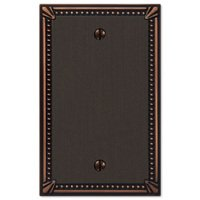 Amerelle Wallplates - Imperial Beaded - Single Blank Wallplate in Aged Bronze