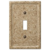Amerelle Wallplates - Faux Stone - Resin Single Toggle Wallplate in Faux Slate Noce