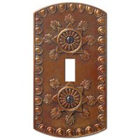Amerelle Wallplates - Amiens - Resin Single Toggle Wallplate in Copper