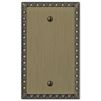 Amerelle Wallplates - Egg and Dart - Single Blank Wallplate in Brushed Brass