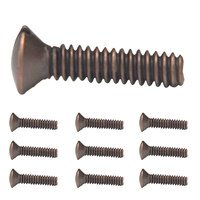 "Amerelle Wallplates - Accessories - 10 Pack of 3/4"" Wallplate Screws in Aged Bronze"