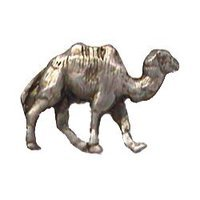 Anne at Home - African - Camel Knob Right in Pewter Matte