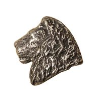 Anne at Home - African - Lion Head Knob (Facing Left) in Pewter Matte