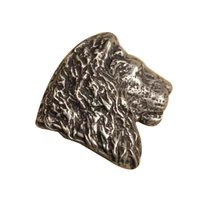 Anne at Home - African - Lion Head Knob (Facing Right) in Pewter Matte