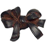 Anne at Home - Bow & Tassel - Triple Loop Bow - Knob in Pewter Matte