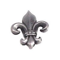 Anne at Home - Bow & Tassel - Fleur-de-lis Knob - Medium in Pewter Matte