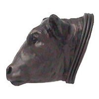 Anne at Home - Farm Animal - Anne at Home - Bull Head Knob (Facing Left) in Pewter Matte