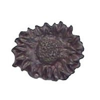 Anne at Home - Leaf & Flower - Anne at Home - Sunflower Oval Knob (Small) in Pewter Matte