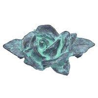 Anne at Home - Leaf & Flower - Lg. Single Rose Pull in Pewter Matte