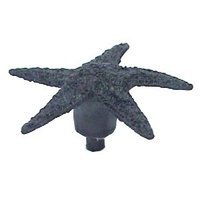 Anne at Home - Nautical - Small Starfish Knob in Pewter Matte