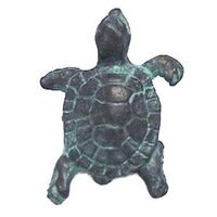 Anne at Home - Nautical - Turtle Knob (Large) in Pewter Matte