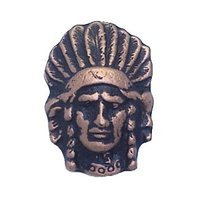 Anne at Home - Western - Indian Chief Knob in Pewter Matte