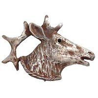 Anne at Home - Wild Animal - Elk Knob (Large Facing Right) in Pewter Matte