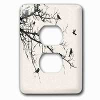 Jazzy Wallplates - Animals - Single Duplex Outlet With Birds On Branches