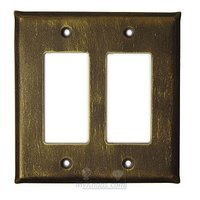 Anne at Home - Plain - Plain Switchplate Double Rocker/GFI Switchplate in Pewter Matte