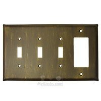 Anne at Home - Plain - Plain Switchplate Combo Rocker/GFI Triple Toggle Switchplate in Pewter Matte