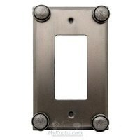 Anne at Home - Button - Button Switchplate Rocker/GFI Switchplate in Pewter Matte