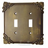 Anne at Home - Corinthia - Corinthia Switchplate Double Toggle Switchplate in Pewter Matte