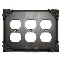 Anne at Home - Corinthia - Corinthia Switchplate Triple Duplex Outlet Switchplate in Pewter Matte