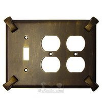 Anne at Home - Hammerhein - Hammerhein Switchplate Combo Double Duplex Outlet Single Toggle Switchplate in Pewter Matte