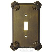 Anne at Home - Oceanus - Oceanus Switchplate Single Toggle Switchplate in Pewter Matte