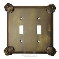 Anne at Home - Oceanus - Oceanus Switchplate Double Toggle Switchplate in Pewter Matte