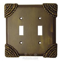 Anne at Home - Roguery - Roguery Switchplate Double Toggle Switchplate in Pewter Matte