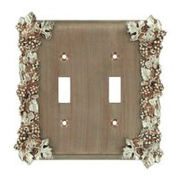 Anne at Home - Grapes - Grapes Double Toggle Switchplate in Pewter Matte