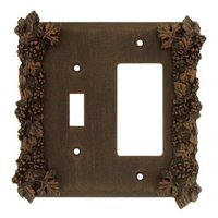Anne at Home - Grapes - Grapes Combo Toggle/Rocker Switchplate in Pewter Matte