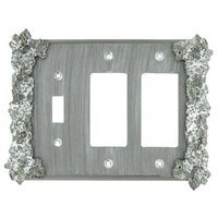 Anne at Home - Grapes - Grapes 1 Toggle/2 Rocker Switchplate in Pewter Matte