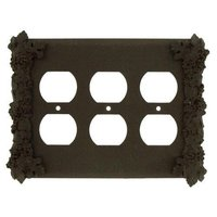 Anne at Home - Grapes - Grapes Triple Duplex Outlet Switchplate in Pewter Matte