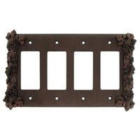Anne at Home - Grapes - Grapes Quadruple Rocker/GFI Switchplate in Pewter Matte