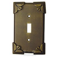 Anne at Home - Pompeii - Pompeii Switchplate Single Toggle Switchplate in Pewter Matte