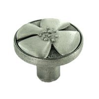 "Anne at Home - Bloom - 1 1/4"" Diameter Knob in Pewter Matte"