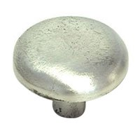 "LW Designs - 11 - Round Knob - 1 1/2"" in Pewter Matte"